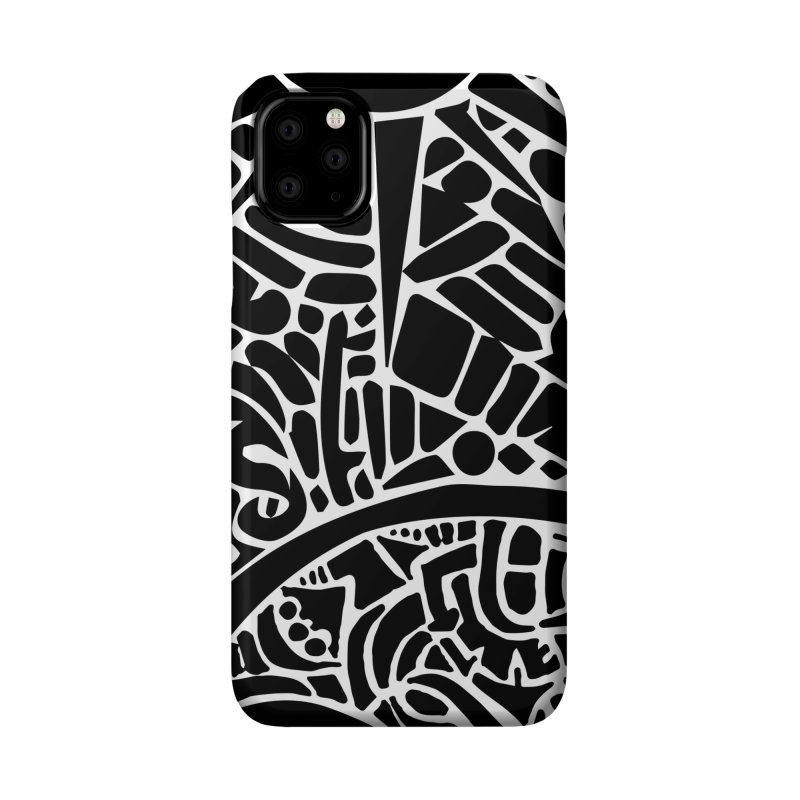 Stream of Consciousness Mural - Black & White Accessories Phone Case by Natina Norton Designs