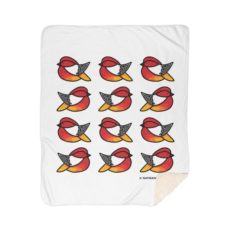 Chubby Birds Home Blanket by Natina Norton Designs