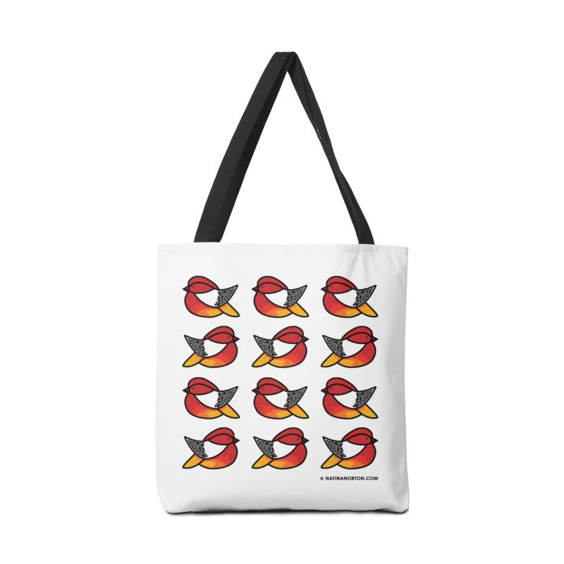 Chubby Birds Accessories Tote Bag Bag by Natina Norton Designs