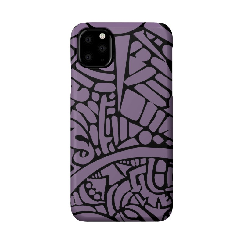 Stream of Consciousness Mural - Purple & Black Accessories Phone Case by Natina Norton Designs