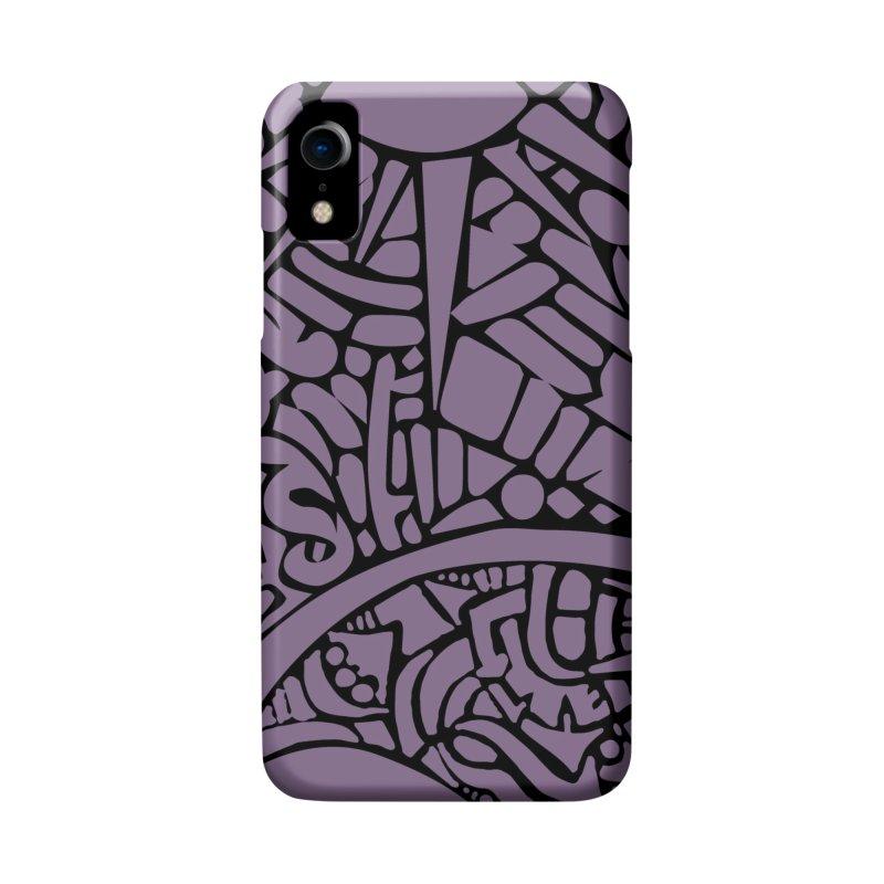 Stream of Consciousness Mural - Purple & Black Accessories Phone Case by Natina Norton Designs
