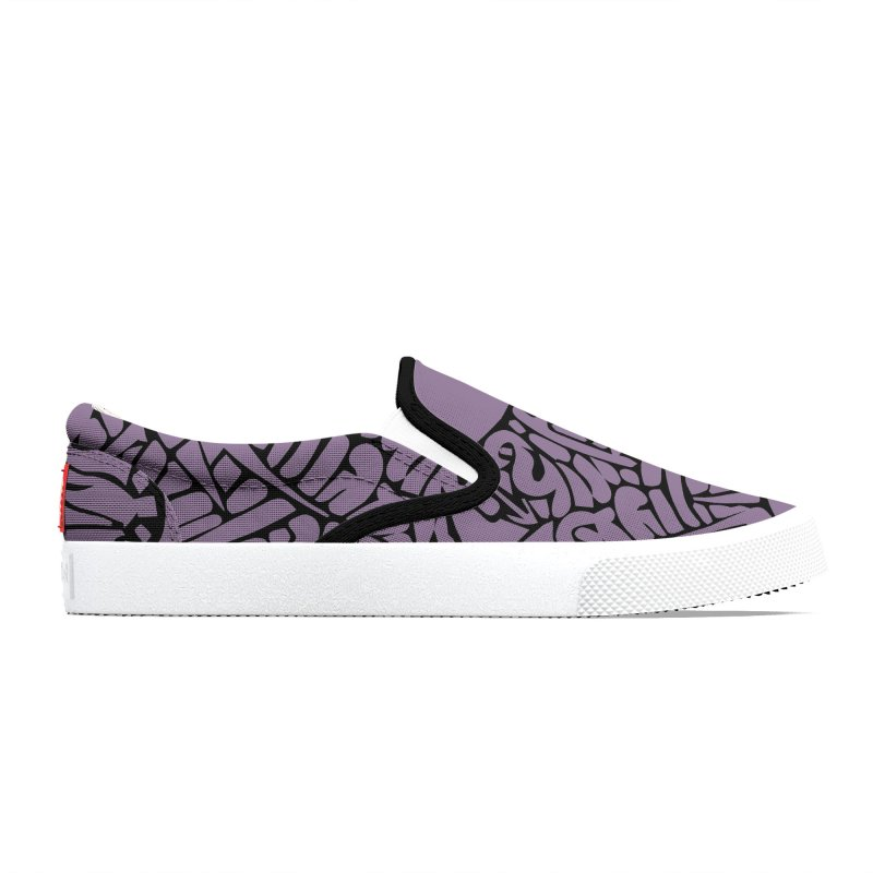 Stream of Consciousness Mural - Purple & Black Men's Shoes by Natina Norton Designs
