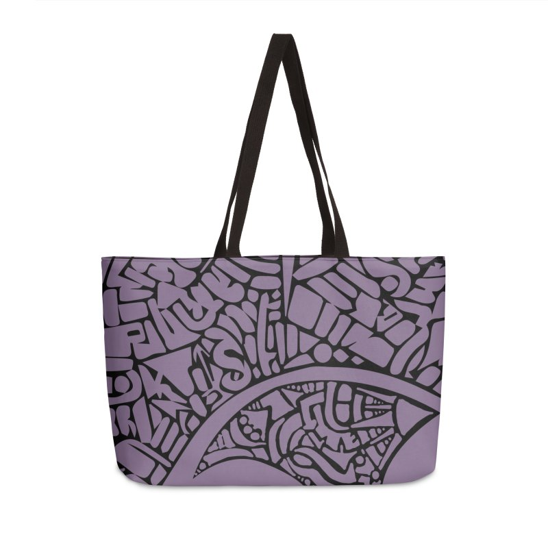 Stream of Consciousness Mural - Purple & Black Accessories Weekender Bag Bag by Natina Norton Designs