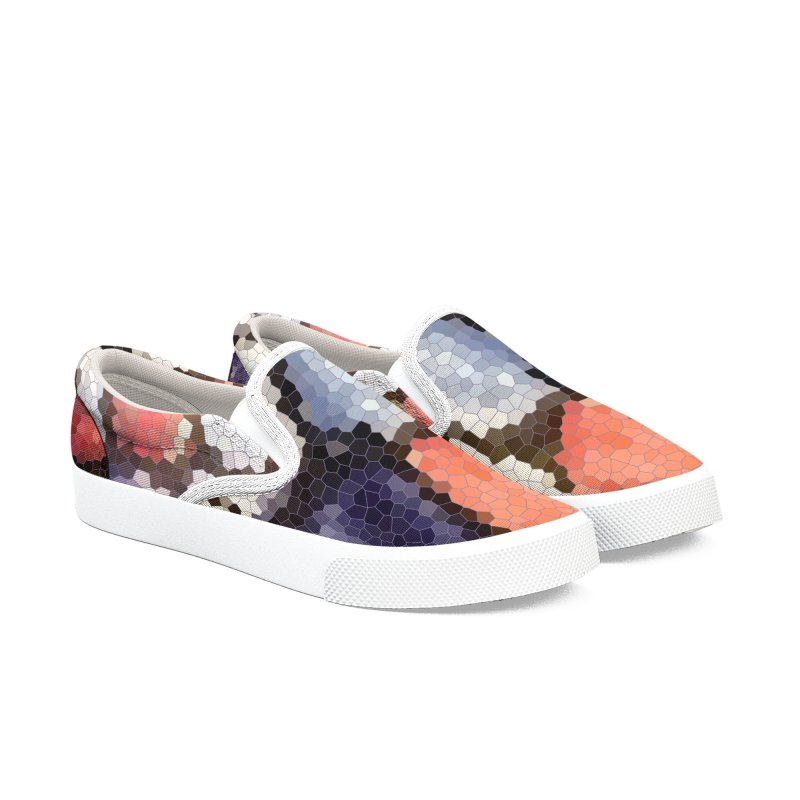 Plums & Peaches Women's Slip-On Shoes by Natina Norton Designs