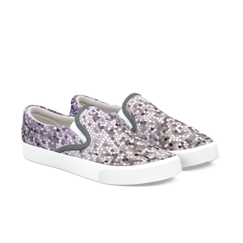 Concrete Ink Spill Women's Slip-On Shoes by Natina Norton Designs