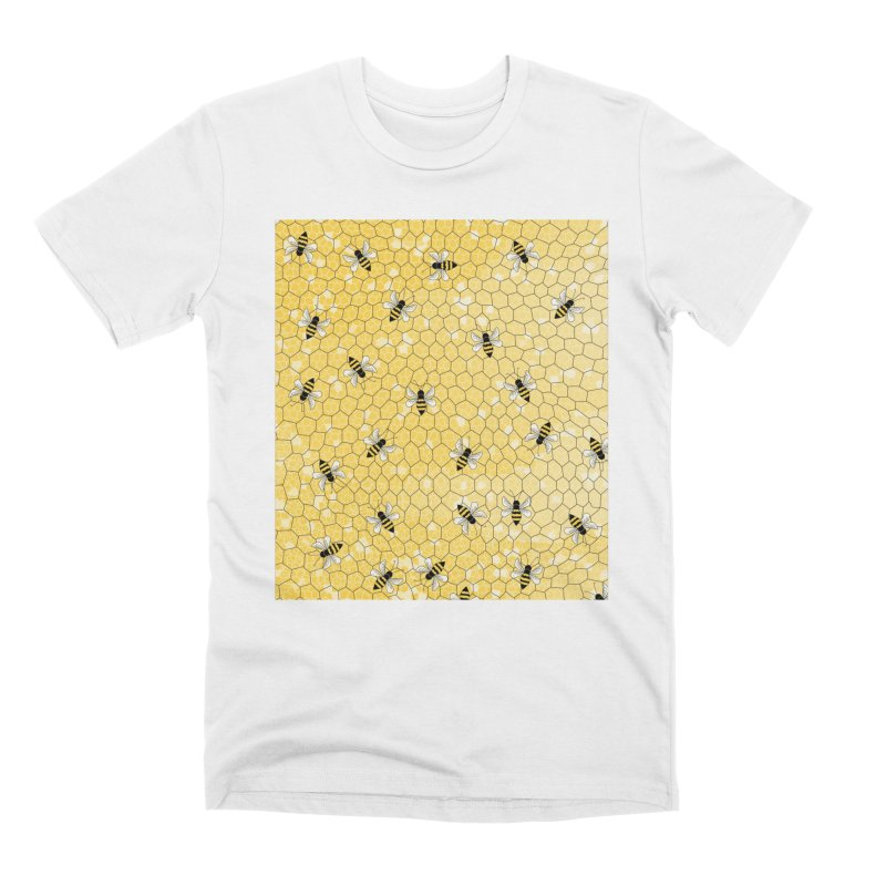 Happy Honey Bees Men's T-Shirt by Natina Norton Designs