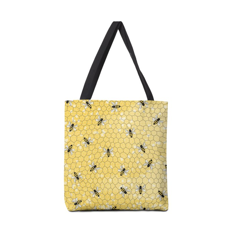 Happy Honey Bees Accessories Tote Bag Bag by Natina Norton Designs
