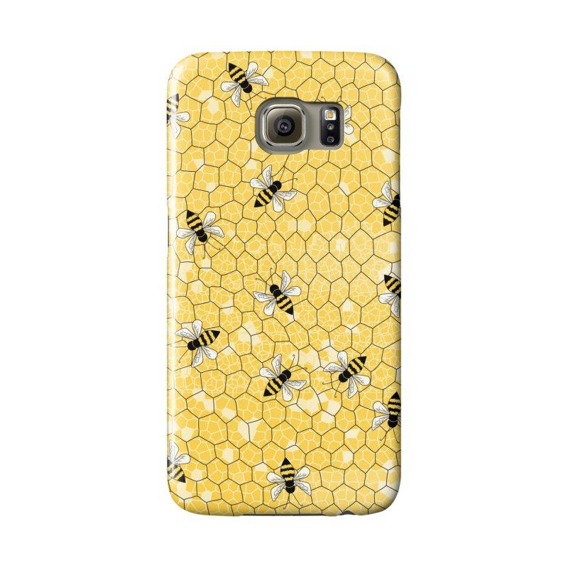 Happy Honey Bees Accessories Phone Case by Natina Norton Designs