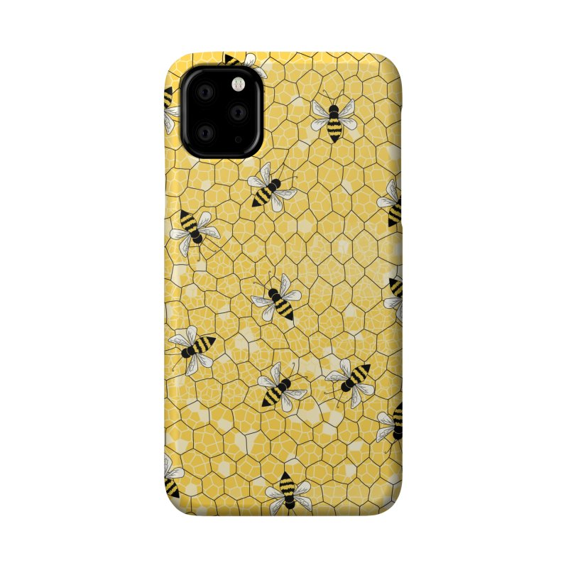 Happy Honey Bees Accessories Phone Case by Natina Norton Designs