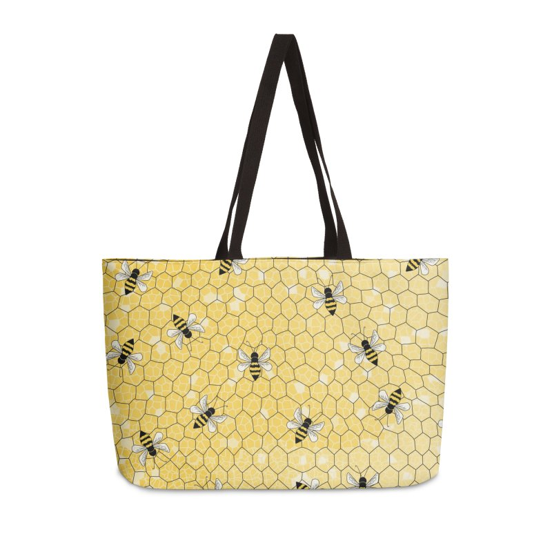 Happy Honey Bees Accessories Weekender Bag Bag by Natina Norton Designs