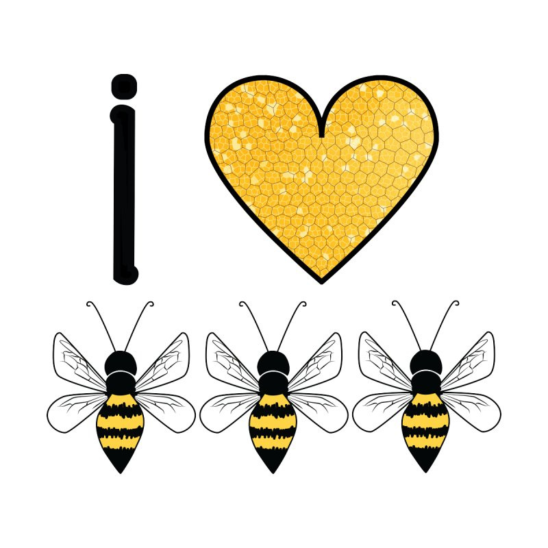 I Heart Honey Bees Men's T-Shirt by Natina Norton Designs