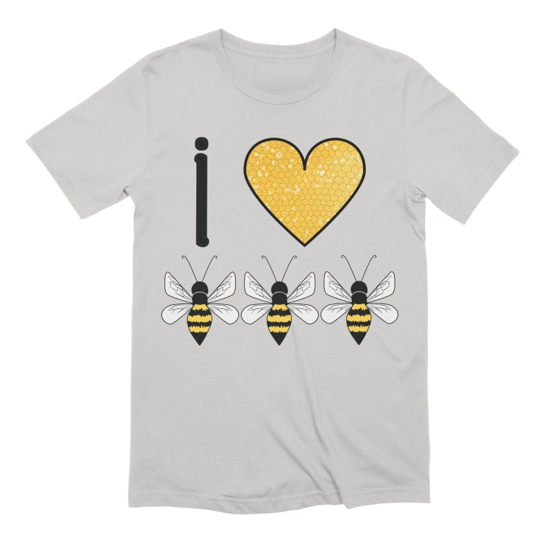 I Heart Honey Bees Men's Extra Soft T-Shirt by Natina Norton Designs