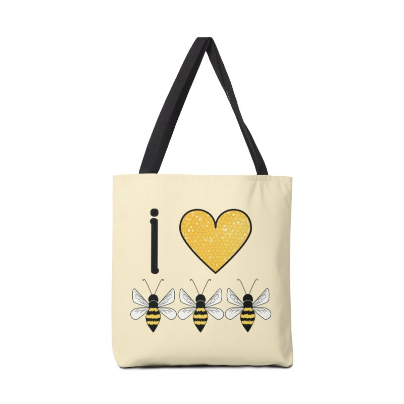 I Heart Honey Bees Accessories Tote Bag Bag by Natina Norton Designs