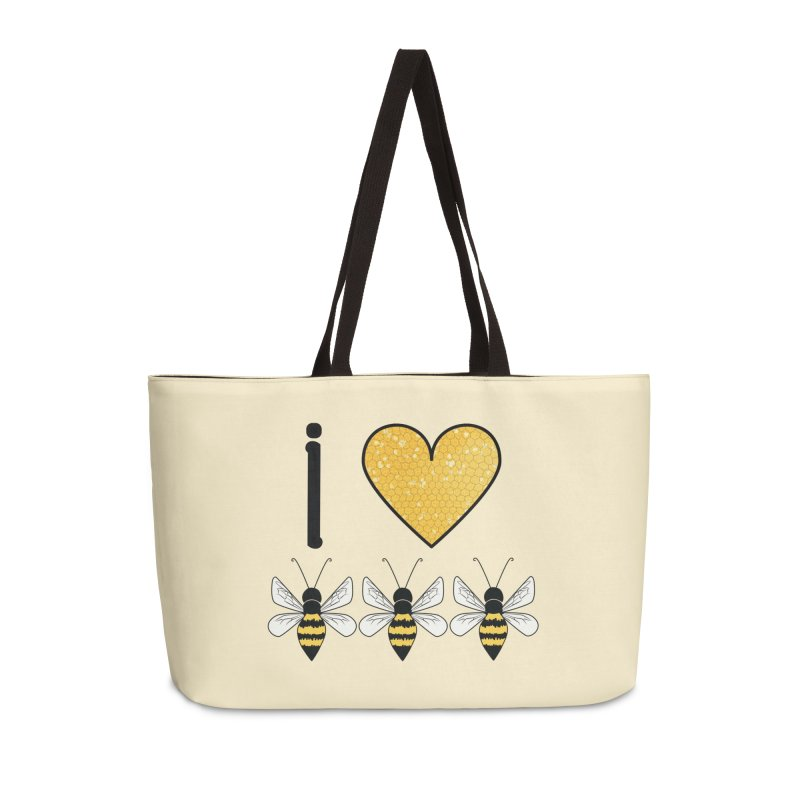I Heart Honey Bees Accessories Weekender Bag Bag by Natina Norton Designs