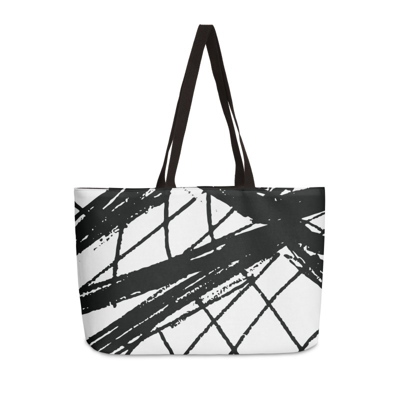 Louvre Lines Accessories Weekender Bag Bag by Natina Norton Designs