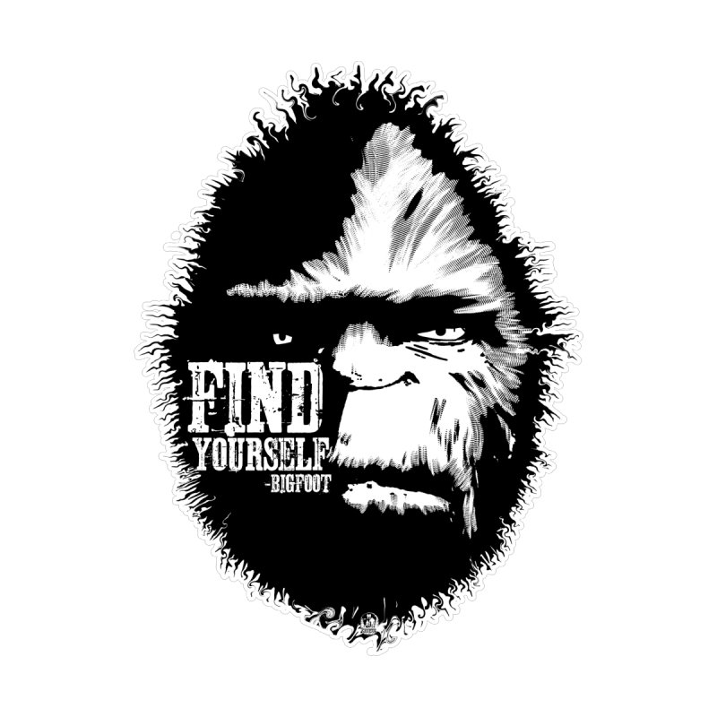 Find Yourself Bigfoot Sasquatch Yeti Funny Adventure Motivational Finding Outdoors Forest Quote Men's T-Shirt by nationalcryptidsociety's Artist Shop
