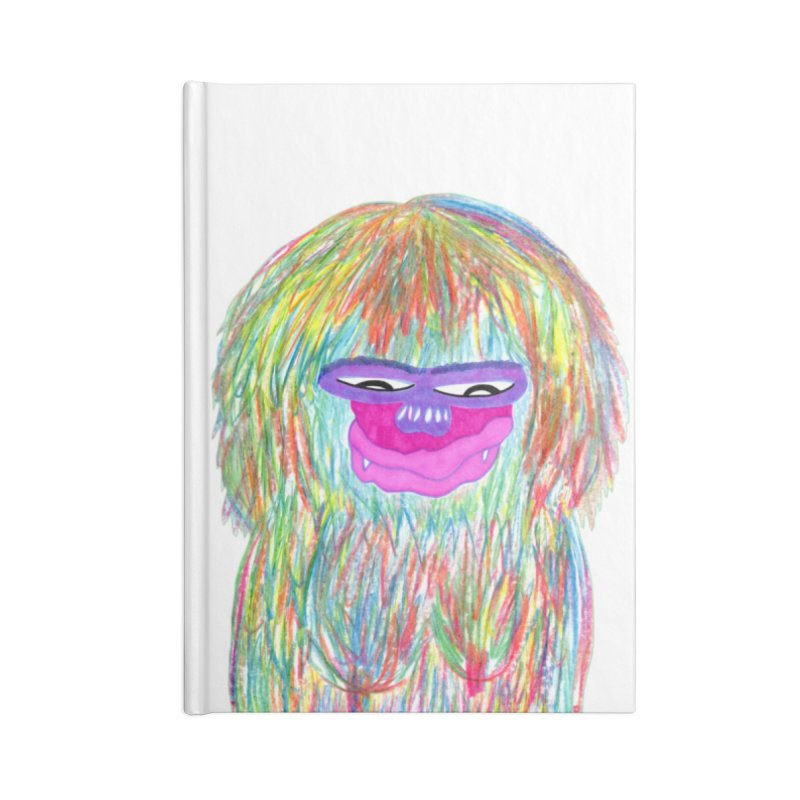 Lady monkey Accessories Lined Journal Notebook by NatiRomero's Artist Shop