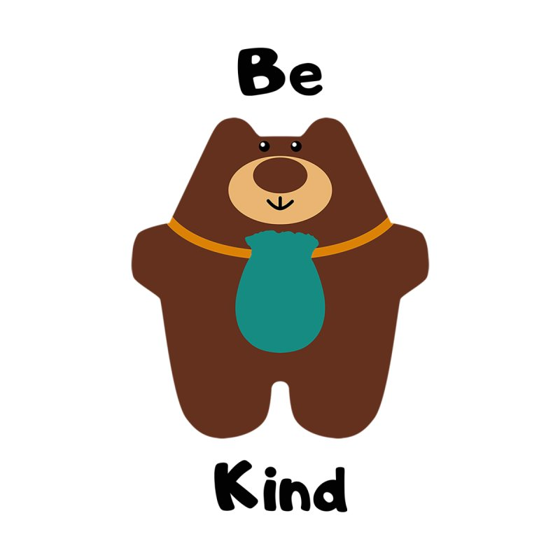 Be Kind Home Throw Pillow by Native Healing Bears's Artist Shop