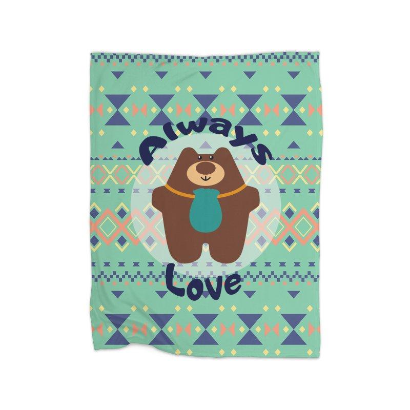 Always love blanket Home Blanket by Native Healing Bears's Artist Shop