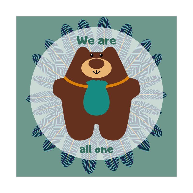 We Are All One Pillow Home Throw Pillow by Native Healing Bears's Artist Shop