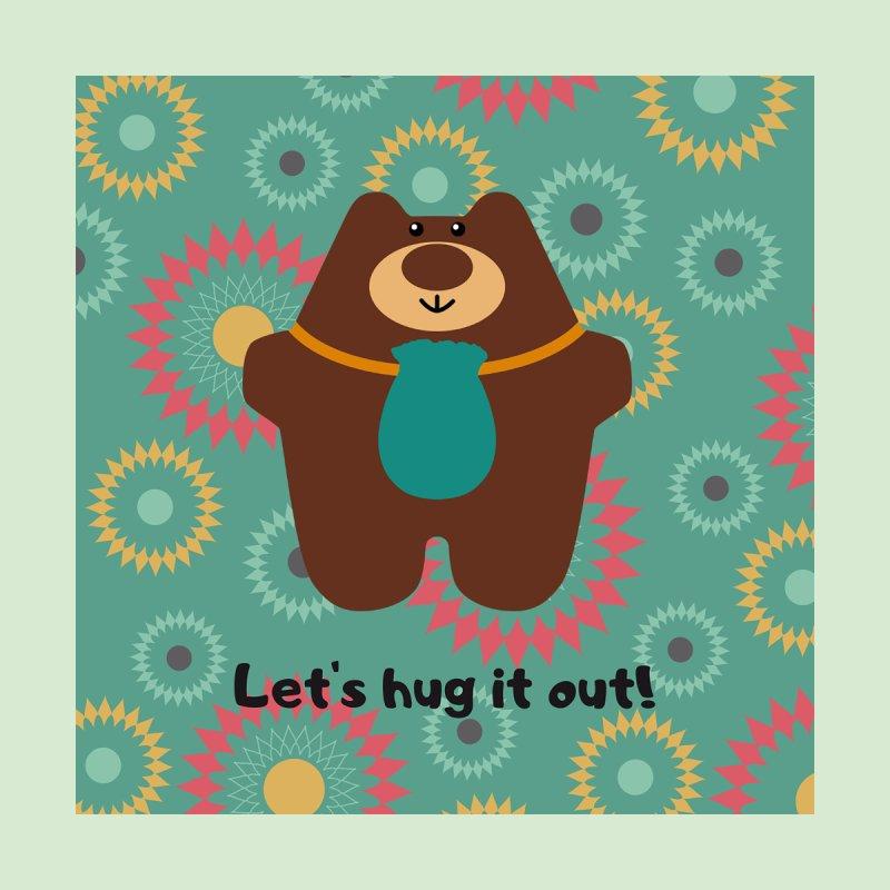 Hug it out Circles Home Throw Pillow by Native Healing Bears's Artist Shop