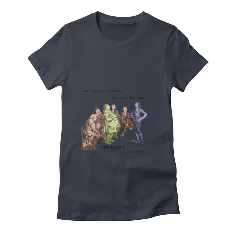And She did Women's Fitted T-Shirt by Natou's Artist Shop