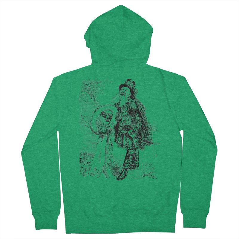A Happy Pirate Wreath Men's French Terry Zip-Up Hoody by Natou's Artist Shop