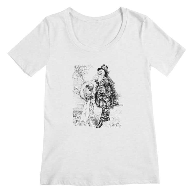 A Happy Pirate Wreath Women's Scoopneck by Natou's Artist Shop