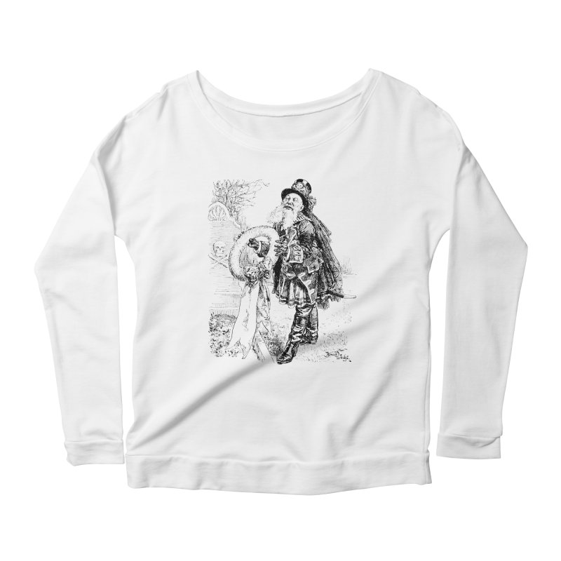 A Happy Pirate Wreath Women's Scoop Neck Longsleeve T-Shirt by Natou's Artist Shop