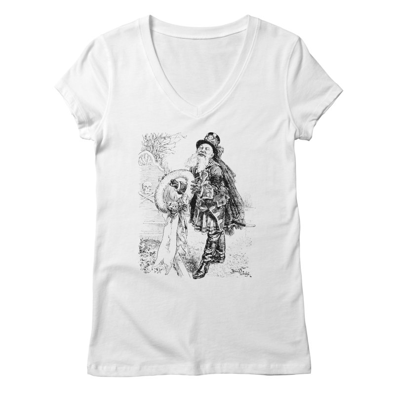 A Happy Pirate Wreath Women's Regular V-Neck by Natou's Artist Shop