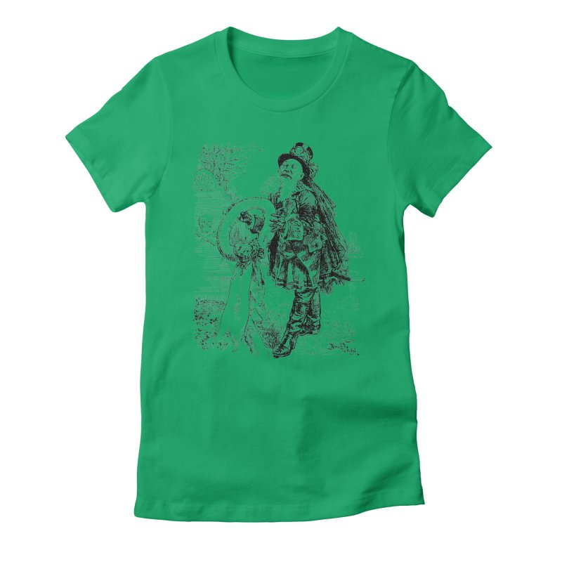 A Happy Pirate Wreath Women's Fitted T-Shirt by Natou's Artist Shop