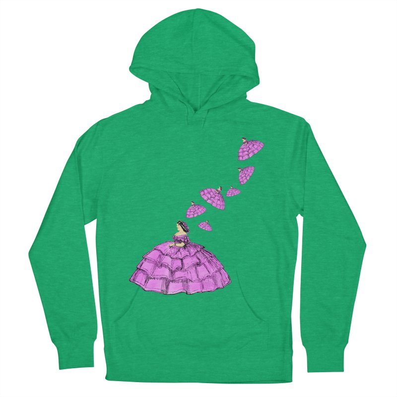 A Flying Crinoline Men's French Terry Pullover Hoody by Natou's Artist Shop