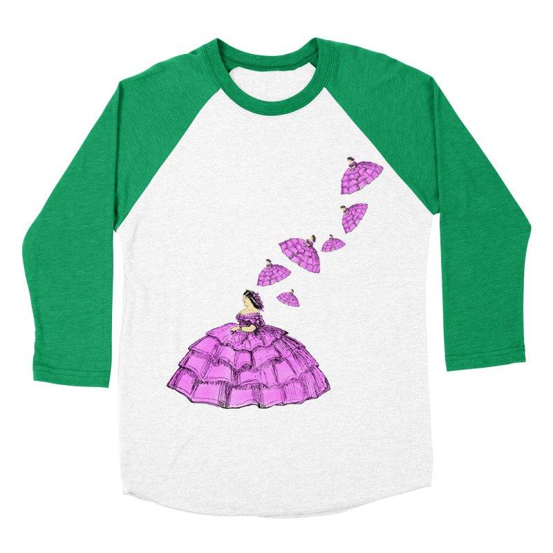 A Flying Crinoline Men's Baseball Triblend T-Shirt by Natou's Artist Shop