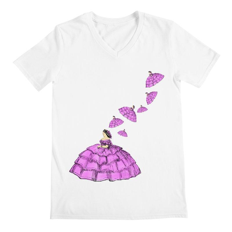 A Flying Crinoline Men's Regular V-Neck by Natou's Artist Shop