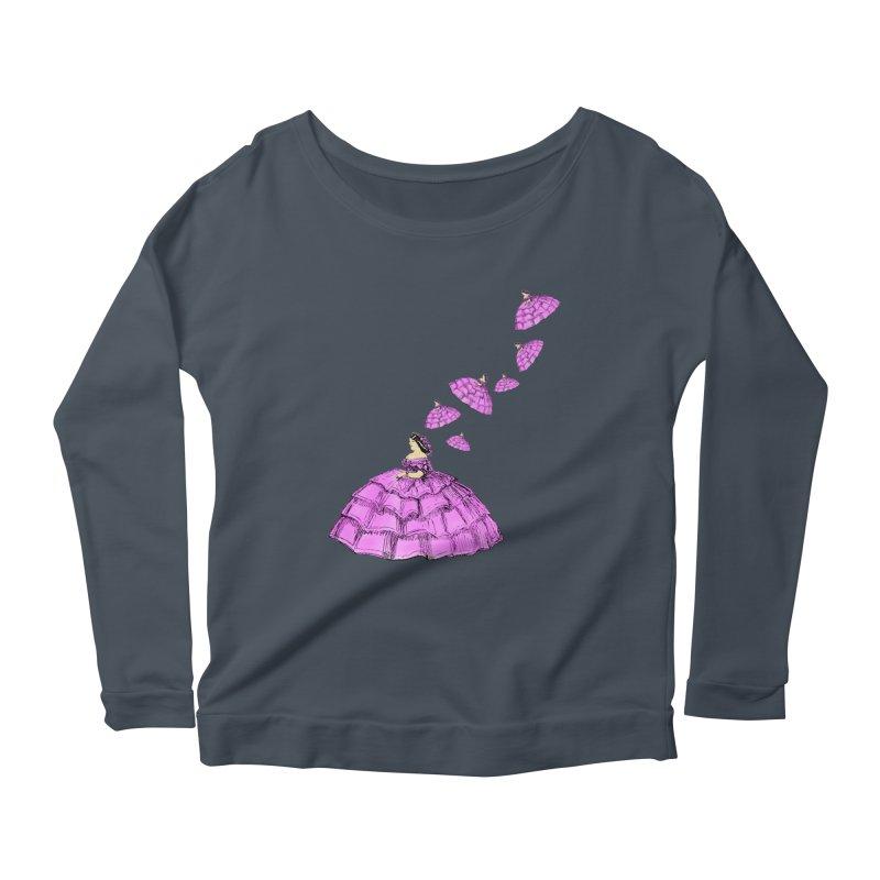 A Flying Crinoline Women's Scoop Neck Longsleeve T-Shirt by Natou's Artist Shop