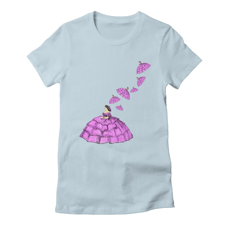 A Flying Crinoline Women's Fitted T-Shirt by Natou's Artist Shop