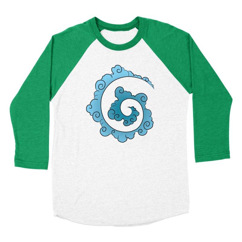 Cloud Spiral Women's Baseball Triblend Longsleeve T-Shirt by Natou's Artist Shop
