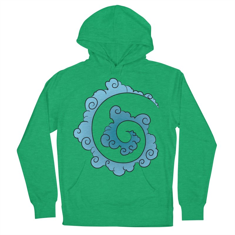 Cloud Spiral Women's French Terry Pullover Hoody by Natou's Artist Shop