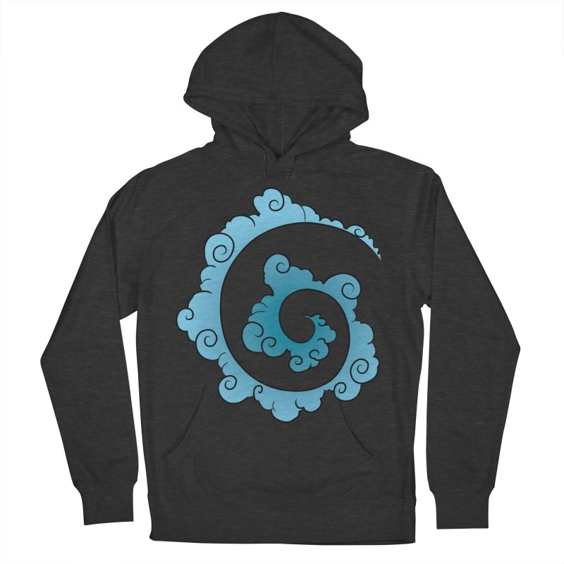 Cloud Spiral Men's French Terry Pullover Hoody by Natou's Artist Shop