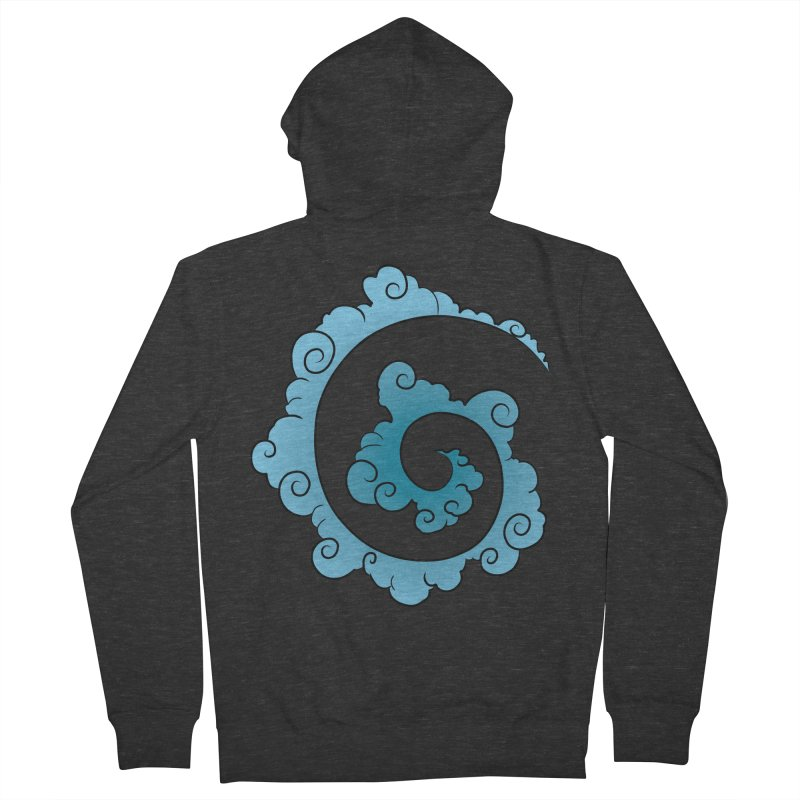 Cloud Spiral Women's French Terry Zip-Up Hoody by Natou's Artist Shop