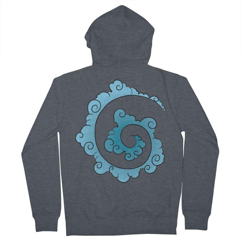 Cloud Spiral Men's Zip-Up Hoody by Natou's Artist Shop