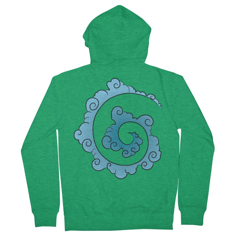 Cloud Spiral Men's French Terry Zip-Up Hoody by Natou's Artist Shop