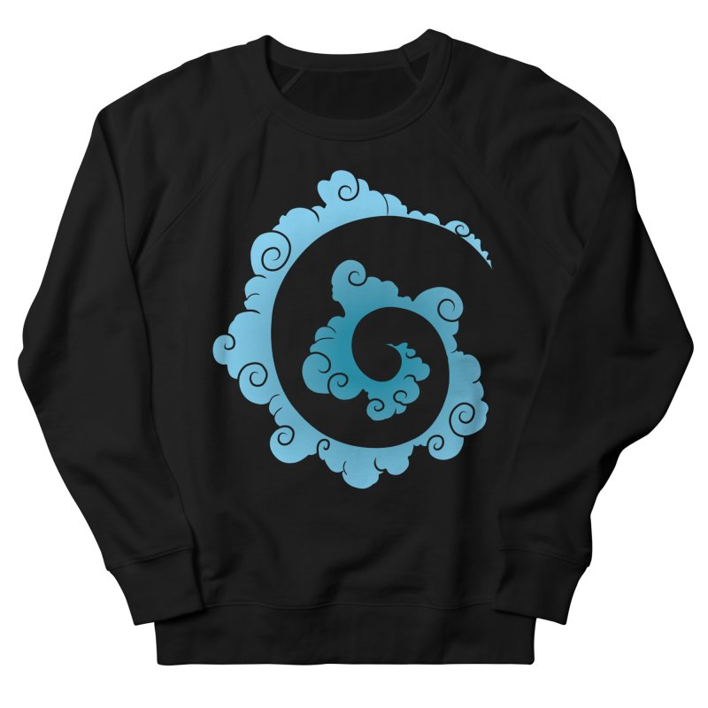 Cloud Spiral Women's French Terry Sweatshirt by Natou's Artist Shop