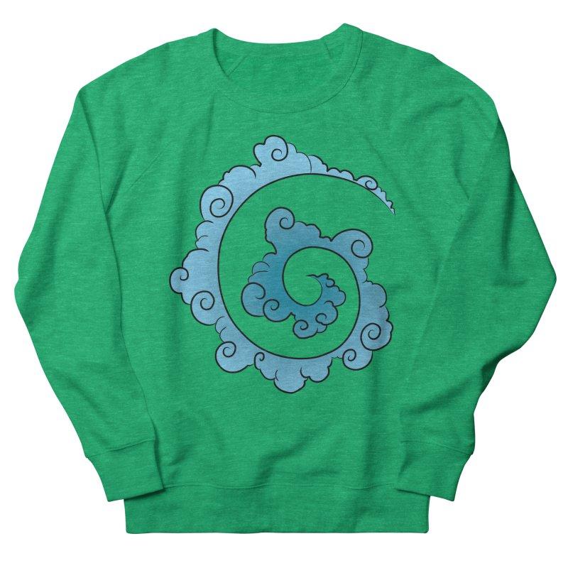 Cloud Spiral Men's French Terry Sweatshirt by Natou's Artist Shop