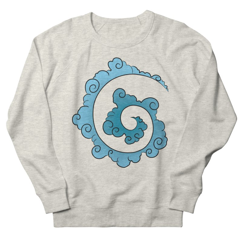 Cloud Spiral Men's French Terry Sweatshirt by Natou's Artist Shop
