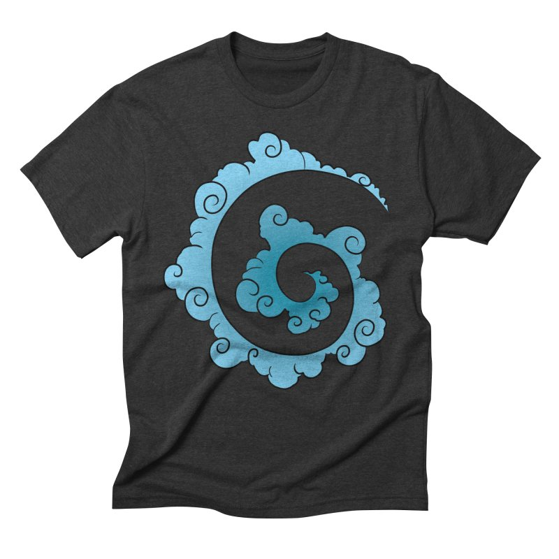Cloud Spiral Men's Triblend T-Shirt by Natou's Artist Shop