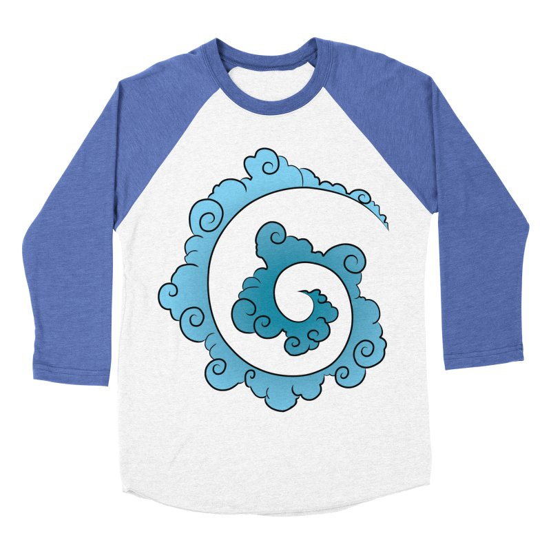 Cloud Spiral Women's Baseball Triblend Longsleeve T-Shirt by Natou's Artist Shop