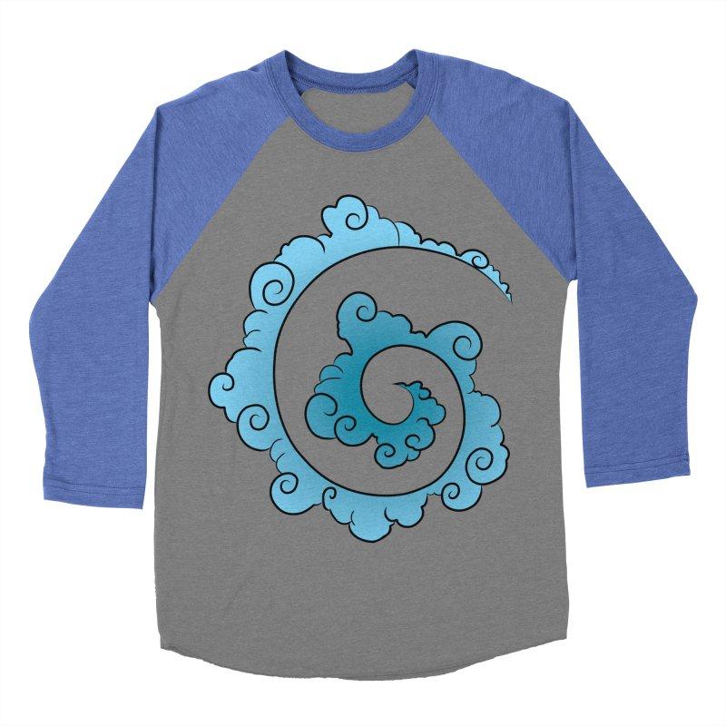 Cloud Spiral Women's Baseball Triblend T-Shirt by Natou's Artist Shop