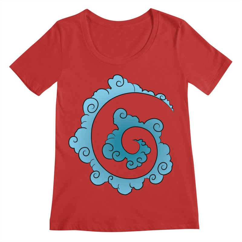 Cloud Spiral Women's Regular Scoop Neck by Natou's Artist Shop
