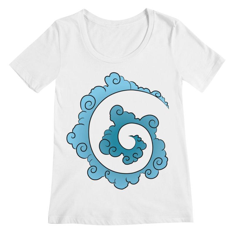 Cloud Spiral Women's Scoopneck by Natou's Artist Shop